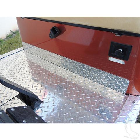 EZGO TXT Kick Plate - Aluminum Diamond Plate