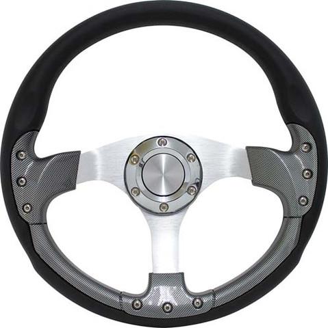 "EZGO 14"" Carbon Fiber Golf Cart Steering Wheel Kit (Fits ALL 1975 - Up)"