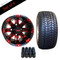 """10"""" VEGAS Wheels and 205/50-10"""" DOT Street Tires Combo - Set of 4 (CHOOSE YOUR COLOR!)"""