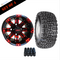 """10"""" VEGAS Wheels and 18x8.5-10"""" Kenda All Terrain Tires Combo - RED"""