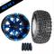 "10"" VEGAS Wheels and 18x8.5-10"" Kenda All Terrain Tires Combo - BLUE"