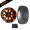 "10"" VEGAS Wheels and 18x8.5-10"" Kenda All Terrain Tires Combo - ORANGE"