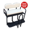 EZGO TXT / Medalist / PDS Golf Cart Rear Seat Kit - Pure WHITE (Flip Seat w/ Cargo Bed & FREE Grab Bar)