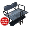 EZGO RXV Golf Cart Rear Seat Kit - BLACK (Flip Seat w/ Cargo Bed & FREE Grab Bar)