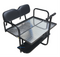 EZGO RXV Golf Cart Rear Seat Kit - BLACK (Flip Seat w/ Cargo Bed & FREE Grab Bar)
