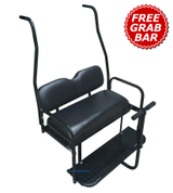 Club Car DS Golf Cart Rear Seat Kit (1982 - 2013 models) - BLACK
