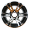 "12"" BULLDOG Machined Wheels and Low Profile 215/40-12 DOT Tires Combo"