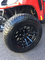 "12"" BLACK VENOM Golf Cart Wheels and 215/50-12"" DOT Street Golf Cart Tires"