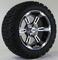 "14"" RUCKUS Machined/ Black Wheels and 23x10.5-12"" All Terrain Tires Combo"