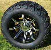 "10"" SPYDER Golf Cart Wheels and 18x9-10 DOT All Terrain Golf Cart Tires Combo - Set of 4 (Fits All Carts!)"