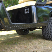 EZGO TXT Golf Cart Rocker Panels - BLACK Diamond Plate