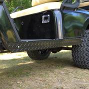 EZGO TXT Golf Cart Rocker Panels - BLACK Diamond Plate