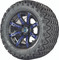 "12"" Madjax ILLUSION Wheels and 23"" All Terrain Golf Cart Tires Combo - Set of 4 - BLUE"