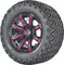 "12"" Madjax ILLUSION Wheels and 23"" All Terrain Golf Cart Tires Combo - Set of 4 - PINK"