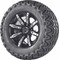 "12"" Madjax ILLUSION Wheels and 23"" All Terrain Golf Cart Tires Combo - Set of 4 - WHITE"