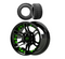 "Madjax MIRAGE Wheels and 23"" All Terrain Golf Cart Tires Combo - Set of 4 - GREEN"
