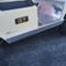 Club Car DS Golf Cart Rocker Panels - Polished Aluminum Diamond Plate