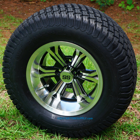 "12"" TRANSFORMER Machined Aluminum Wheels and 23x10.5-12"" Turf Tires Combo - Set of 4"