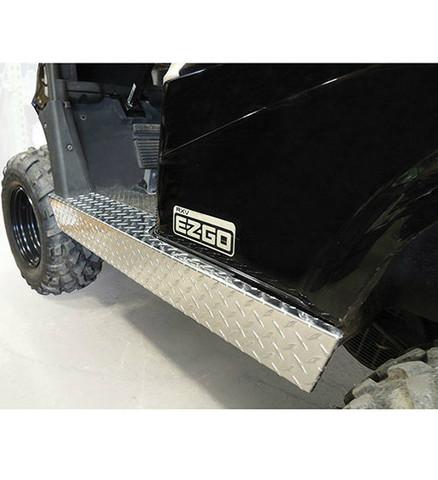 EZ-GO RXV Golf Cart Rocker Panels Set - Aluminum Diamond Plate Side Skirts