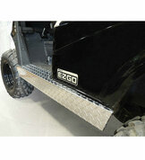 EZ-GO RXV Golf Cart Rocker Panels Set - Aluminum Diamond Plate Side Skirts