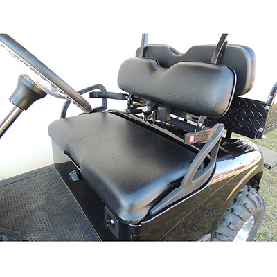 EZ-GO RVX Black Vinyl Golf Cart Seat Cover Set