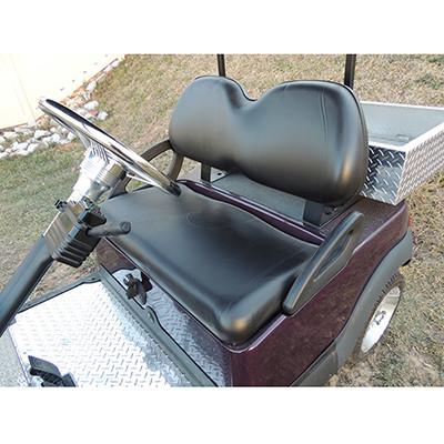 Club Car Precedent Black Vinyl Golf Cart Seat Cover Set