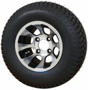 """10"""" REVOLVER Machined Wheels and 20x8-10"""" TURF Tires Combo"""