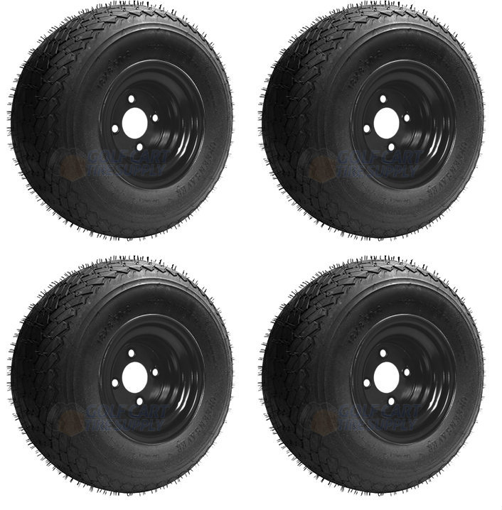 Sti Slasher Gtx 18x8 5 8 Golf Cart Tires And Sti 8 Oem Black Golf
