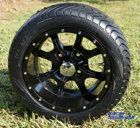 "STALKER 12"" Wheels and Low Profile Golf Cart Tires"
