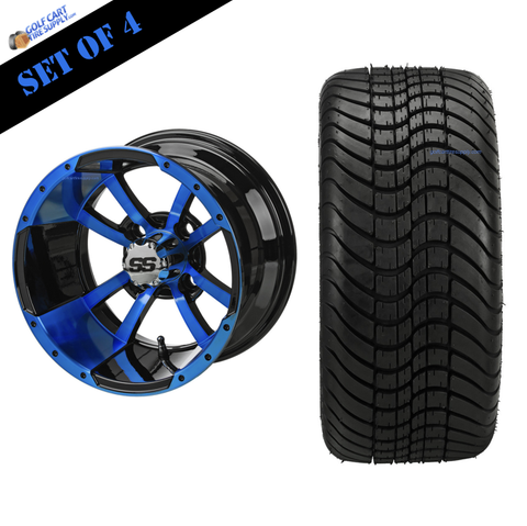 "12"" STORM TROOPER Wheels and 215/35-12"" ELITE DOT Tires (Choose Your Color!)"