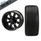 """12"""" TEMPEST Machined/ Anodized Wheels and 215/35-12 Low Profile DOT Tires Combo - MATTE BLACK"""
