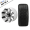 """12"""" TEMPEST Machined/ Anodized Wheels and 215/35-12 Low Profile DOT Tires Combo - WHITE & BLACK"""