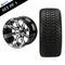 """12"""" TEMPEST Machined/ Anodized Wheels and 215/35-12 Low Profile DOT Tires Combo - Machine / Black"""