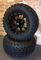"12"" STALKER Black Aluminum wheels and 23"" All terrain tires combo"