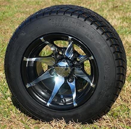 "10"" KRAKEN Wheels and Low Profile DOT tires"