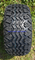"""10"""" Solid BLACK Steel Wheels and 20x10-10"""" All Terrain Tires Combo"""