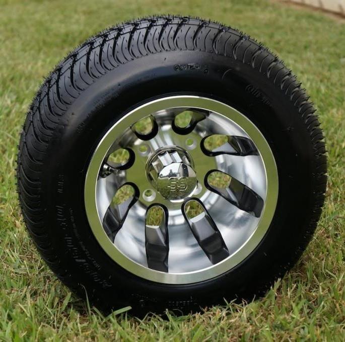 10 revolver golf cart wheels and 205 50 10 wanda low profile dot golf cart tires combo golf. Black Bedroom Furniture Sets. Home Design Ideas