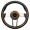 "EZGO 13"" Aviator-4 Wood Grain Steering Wheel w/ Aluminum Spokes"