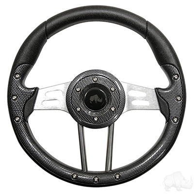 "Club Car DS 13"" Aviator4 Carbon Fiber Steering Wheel w/ Aluminum Spokes"