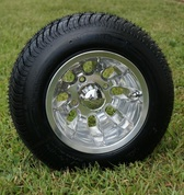 "10"" SILVER BULLET Wheel and Low Profile DOT Tire combo"