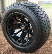 "12"" BLACKJACK Golf Cart Wheels and 215/50-12"" ComfortRide DOT Golf Cart Tires"