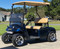 """12"""" TRANSFORMER Machined Wheels and 215/50-12 ComfortRide DOT Golf Cart Tires on a GCTS Customer's non-lifted EZGO TXT."""
