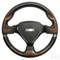 "Yamaha 13"" BONNEVILLE Woodgrain/Black Aluminum Golf Cart Steering Wheel"
