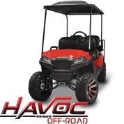 Yamaha Drive/G29 MadJax HAVOC Front Cowl w/ Off-Road Fascia & Headlights Kit - Red