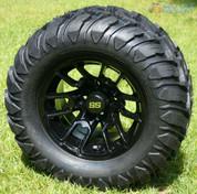 "12"" BLACK LIZARD Aluminum Wheels and 22x11-12 Crawler All Terrain Tires"