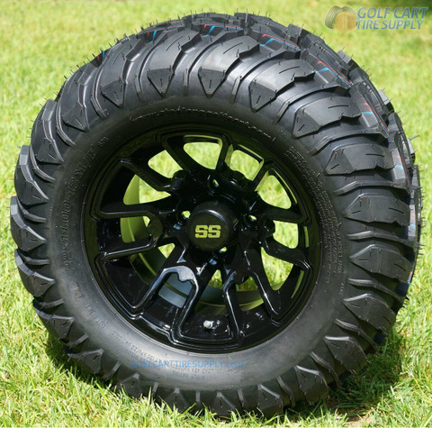 "12"" BLACK LIZARD Aluminum Wheels and 22x11-12 Crawler All Terrain Tires"