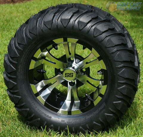 "12"" VAMPIRE Machined Aluminum Wheels and 22x11-12 Mud Terrain Tires"