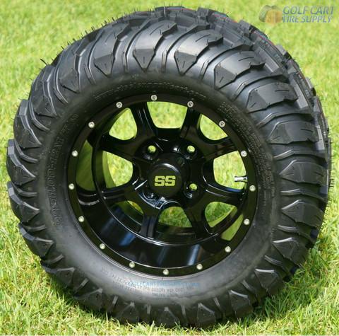 "12"" STALKER Black Aluminum Wheels and 22x11-12 Crawler All Terrain Tires"