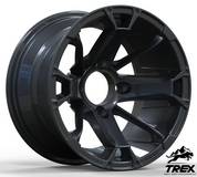 "12"" BLACKJACK Gloss Black Aluminum Wheels - Set of 4"