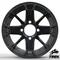 "12"" BLACKJACK Gloss Black Aluminum Wheels - Set of 4"